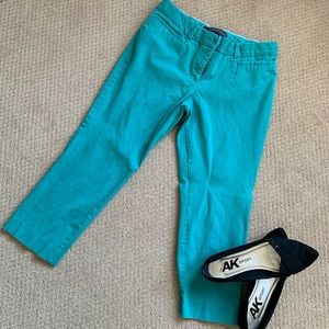 The Limited Signature Stretch Teal Crop Pants
